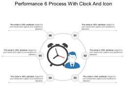 Performance 6 Process With Clock And Icon