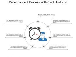 Performance 7 Process With Clock And Icon