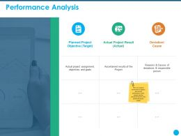 Performance Analysis Objectives And Goals Ppt Powerpoint Presentation Information