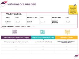 Performance Analysis Powerpoint Slide Designs