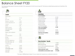 Performance And Accountability Report Balance Sheet Fy20 Accounts Payable Ppts Icons