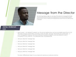Performance And Accountability Report Message From The Director Professionals Ppts Deck