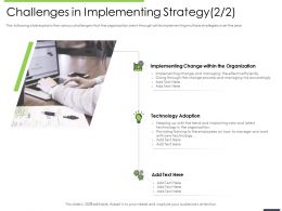 Performance And Challenges In Implementing Strategy Managing Risk Ppts Guidliness