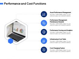 Performance And Cost Functions Table M3093 Ppt Powerpoint Presentation Summary Design