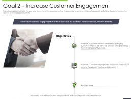 Performance And Goal Increase Customer Engagement Satisfaction Ppts Microsoft