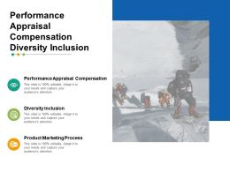 Performance Appraisal Compensation Diversity Inclusion Product Marketing Process Cpb