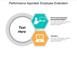 Performance Appraisal Employee Evaluation Ppt Powerpoint Presentation Icon Slide Cpb