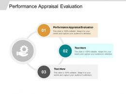 Performance Appraisal Evaluation Ppt Powerpoint Presentation Gallery Deck Cpb