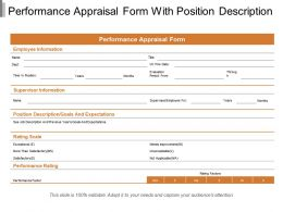 Performance Appraisal Form With Position Description