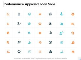 Performance Appraisal Icon Slide Gear Technology C354 Ppt Powerpoint Presentation Icon Example