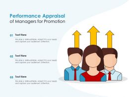Performance Appraisal Of Managers For Promotion