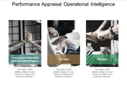 Performance Appraisal Operational Intelligence Ppt Powerpoint Presentation Model Graphics Template Cpb