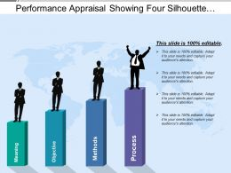 Performance Appraisal Showing Four Silhouette At Different Levels