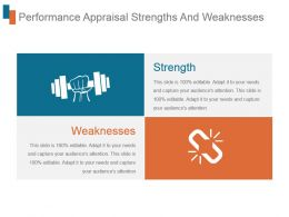 Performance Appraisal Strengths And Weaknesses Ppt Slide Show