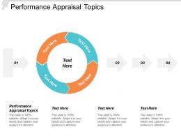Performance Appraisal Topics Ppt Powerpoint Presentation Inspiration Background Images Cpb