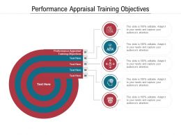 Performance Appraisal Training Objectives Ppt Powerpoint Presentation Gallery Format Cpb