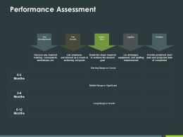 Performance Assessment Ppt Powerpoint Presentation Styles Examples