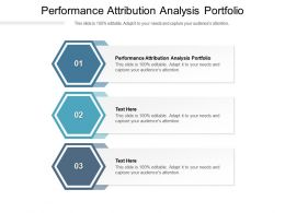 Performance Attribution Analysis Portfolio Ppt Powerpoint Presentation Slides Format Cpb