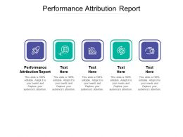 Performance Attribution Report Ppt Powerpoint Presentation Professional Layouts Cpb