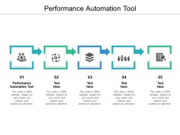 Performance Automation Tool Ppt Powerpoint Presentation File Example Introduction Cpb