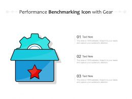 Performance Benchmarking Icon With Gear