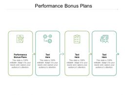Performance Bonus Plans Ppt Powerpoint Presentation Show Outline Cpb