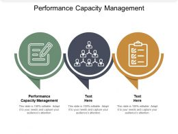 Performance Capacity Management Ppt Powerpoint Presentation Infographics Example Cpb