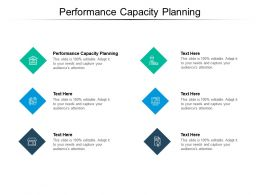 Performance Capacity Planning Ppt Powerpoint Presentation Ideas Show Cpb