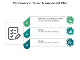 Performance Career Management Plan Ppt Powerpoint Presentation Model Deck Cpb
