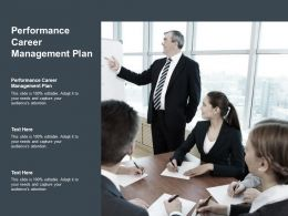 Performance Career Management Plan Ppt Powerpoint Presentation Show Samples Cpb