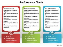performance charts side by side text boxes in line powerpoint diagram templates graphics 712