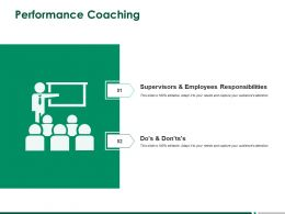 Performance Coaching Business Ppt Powerpoint Presentation Professional Themes