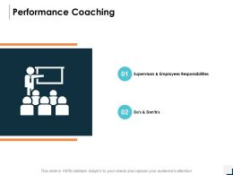 Performance Coaching Employees Responsibilities Ppt Powerpoint Presentation Icon Files