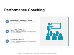 Performance Coaching Goals Setting Process Ppt Powerpoint Presentation Good