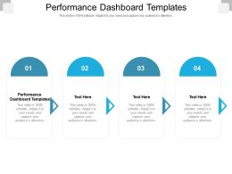 Performance Dashboard Templates Ppt Powerpoint Presentation File Clipart Images Cpb