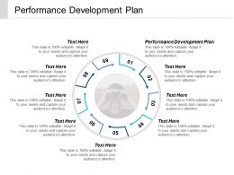 Performance Development Plan Ppt Powerpoint Presentation Styles Picture Cpb