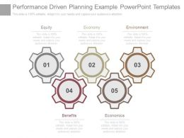 Performance Driven Planning Example Powerpoint Templates