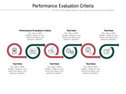 Performance Evaluation Criteria Ppt Powerpoint Presentation Inspiration Graphic Images Cpb