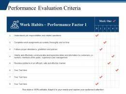 Performance Evaluation Criteria Ppt Professional Layout Ideas