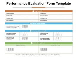 Performance Evaluation Form Template Ppt Infographic Template Grid