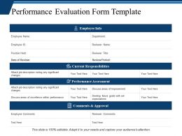 Performance Evaluation Form Template Ppt Professional Master Slide
