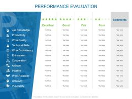 Performance Evaluation Initiative Ppt Powerpoint Presentation Tips
