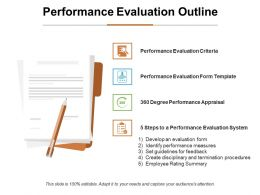 Performance Evaluation Outline Ppt Infographic Template Gridlines