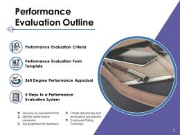 Performance Evaluation Outline Ppt Portfolio Diagrams