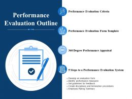 Performance Evaluation Outline Ppt Professional Slide Portrait
