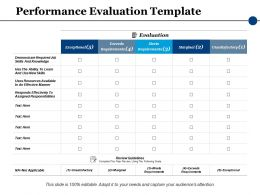 Performance Evaluation Ppt Powerpoint Presentation File Visuals