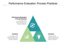 Performance Evaluation Process Practices Ppt Powerpoint Presentation File Samples Cpb