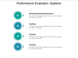 Performance Evaluation Systems Ppt Powerpoint Presentation Icon Graphics Example Cpb