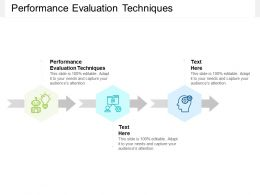 Performance Evaluation Techniques Ppt Powerpoint Presentation Infographic Template Templates Cpb
