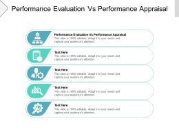 Performance Evaluation Vs Performance Appraisal Ppt Powerpoint Presentation Inspiration Cpb